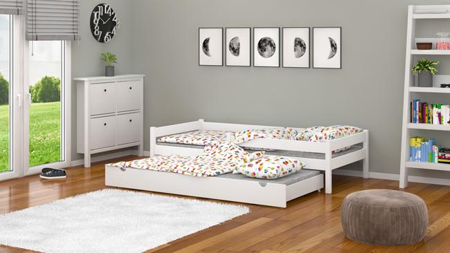 cama con dos camas,