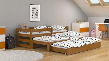 cama con tres camas,