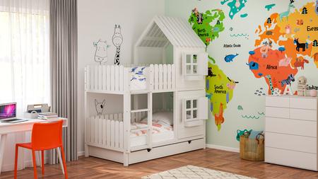 litera, cama para niños, cama tipo cabaña, literas, camas para niños