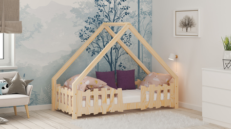 Cama infantil, cama para niños, cama de contrachapado, cama escandinava, cama doble, camas ecológicas, camas eco, muebles de contrachapado, camas del estilo escandinavo, cama casita, cama de forma de casita