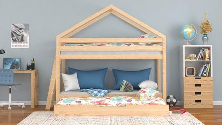 cama casita alta