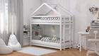 Cama de madera maciza, cama escandinava, cama infantil, cama individual, cama ecológica, cama eco, cama del estilo escandinavo, cama infantil, cama para niños, camas infantiles, litera infantil, litera para niños, litera casita, litera de forma de casita,